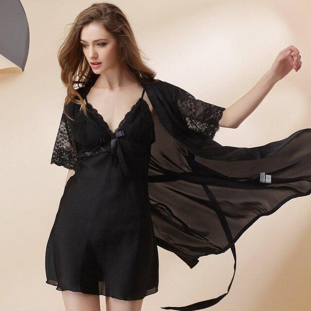 Срок годности Бросился Полиэстер Половина Твердые Женщины Одеваются Для Batas Para Mujer Pijama 2016 Летние Сексуальные Пижамы