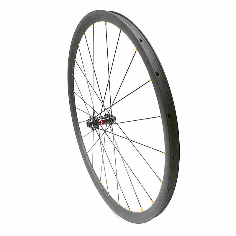 411 hubs 9 12mm 50mm Asymmetry 27mm width 700c front wheel 642g carbon road wheels tubeless disc road bike wheel carbon wheels