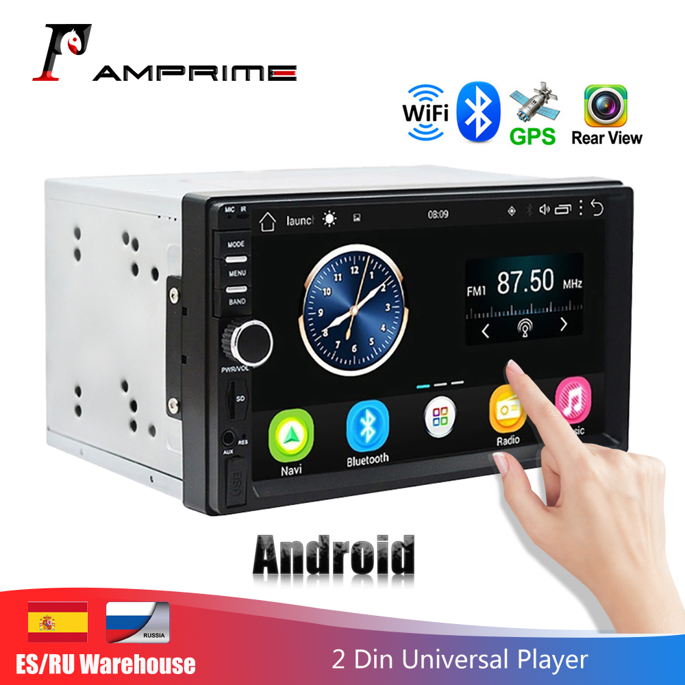 AMPrime 2 Din Android Car Radio GPS Navigation 7 2din Universal Car Stereo Audio Bluetooth Wifi