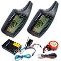 Russa de alarme da motocicleta é para a segurança da motocicleta em dois sentidos controles remotos de LCD disparo de alarme de choque com alarme sonoro, Vibração remoto
