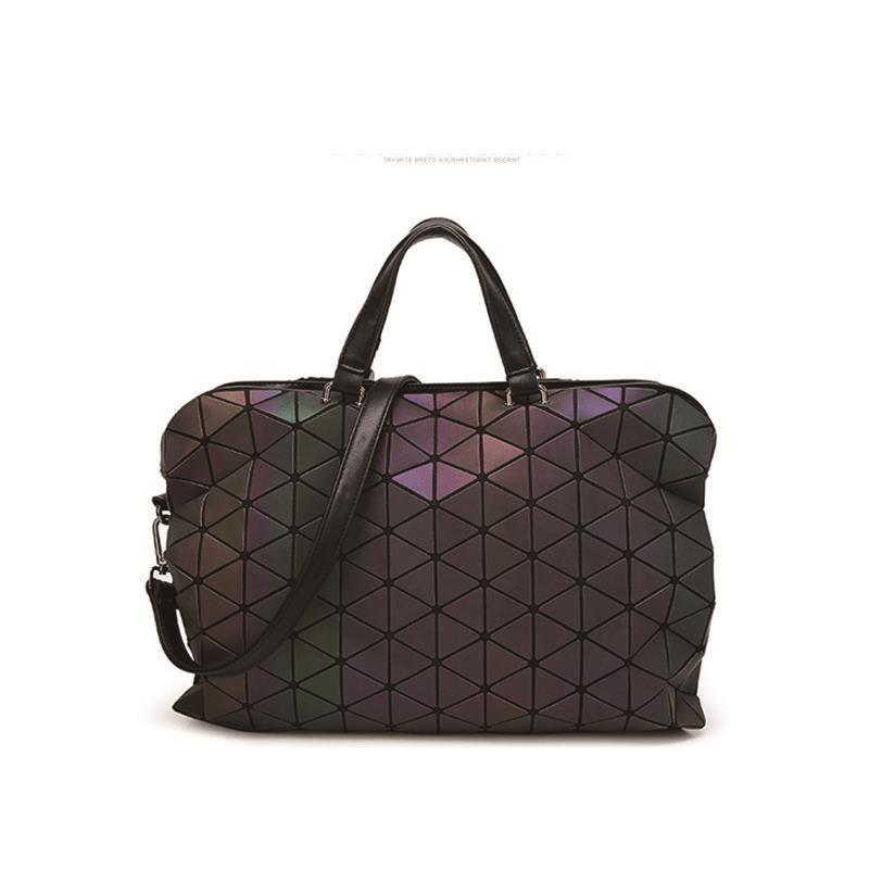 ФОТО 2017 bags women bag luminous bag Lingge package Casual Handbags  Geometry Sequins Europe and the United States
