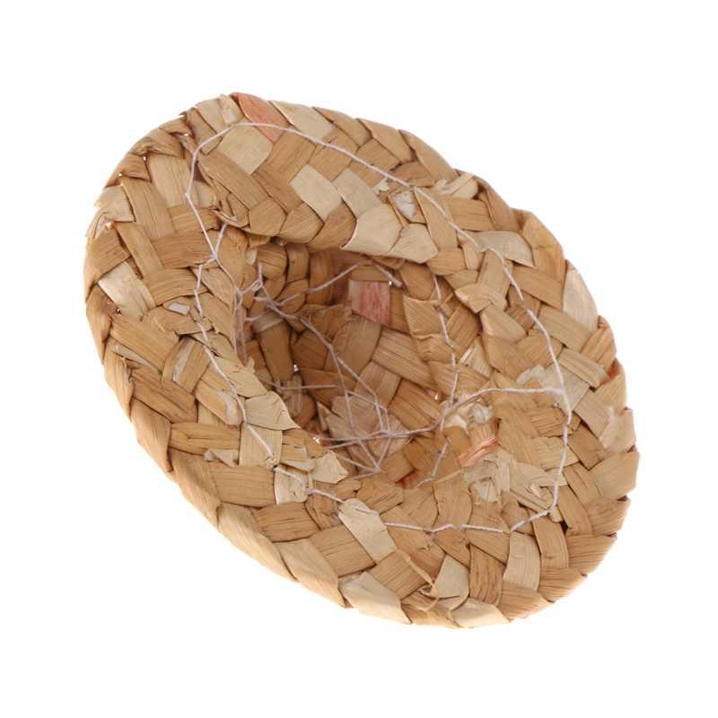 ใหม่ล่าสุด 1PC Handmade ฟางหมวกปรับสำหรับนกแก้วนกอุปกรณ์เสริมแฟชั่น