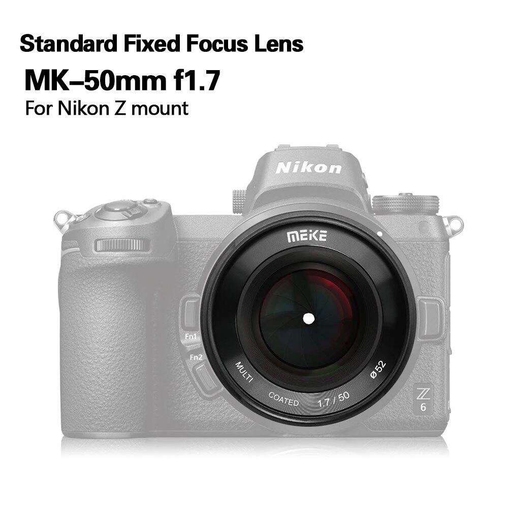 Meike 50mm f/1.7 objectif de mise au point manuelle à grande ouverture plein cadre pour Canon EOS R mount/pour Nikon Z Mount Z6 Z7 appareils photo sans miroir - 3