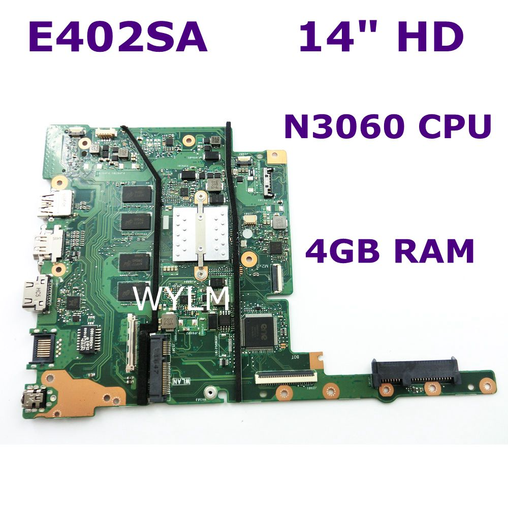 E402SA With N3060 CPU 4GB RAM Mainboard For ASUS E502SA E502S E402SA laptop motherboard  100% Tested Working Well free shippingE402SA With N3060 CPU 4GB RAM Mainboard For ASUS E502SA E502S E402SA laptop motherboard  100% Tested Working Well free shipping