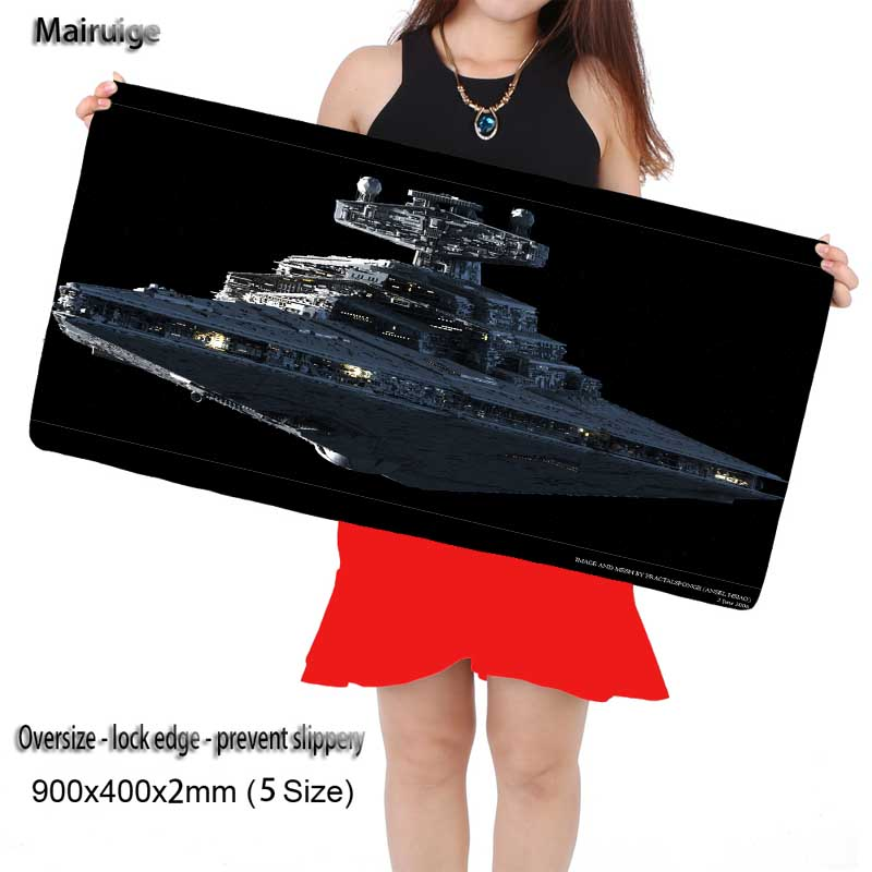 Mairuige Shop Star War Large Game Gaming Mouse Pad 900*400 DIY Picture with Edge Locking Mouse Mat for CSGO Dota 2 LOL Gamer