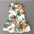 2017 Top Fashion Girl Summer Dress Thin Kids Children Dress Princess Flower Clothes For Baby Gilr  European Princess Style 3-12Y