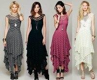2018 Bridesmaid long elegant lace maxi dress hippie design original ankle length party festival lace dresses gown vestidos