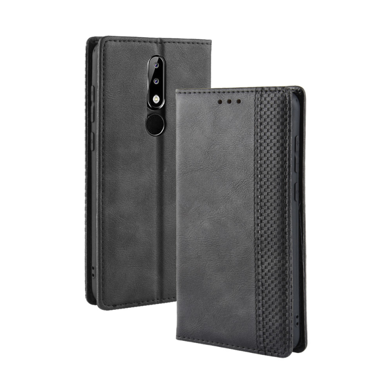 For Nokia 5.1 Plus flip leather case with magnet have Card slot for Nokia X5 case Retro stand cover Bag