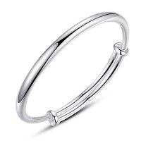 High Quality 999 Sterling Silver Bracelet Female Couple Lettering Bracelet Male Women Fashion Simple Girls Jewelry