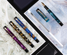 цена на New Moonman M600S Celluloid Fountain Pen F/M/Bent Nib with Converter Excellent Fashion Office Writing Gift Ink Pen for Business