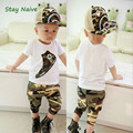 Free shipping Summer 2017 new baby suit baby boy clothing set kids camouflage short suit