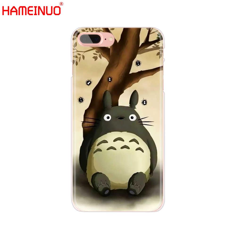 HAMEINUO mój sąsiad Totoro Anime telefon komórkowy pokrywy skrzynka dla iphone X 8 7 6 4 4S 5 5S SE 5c 6 s plus