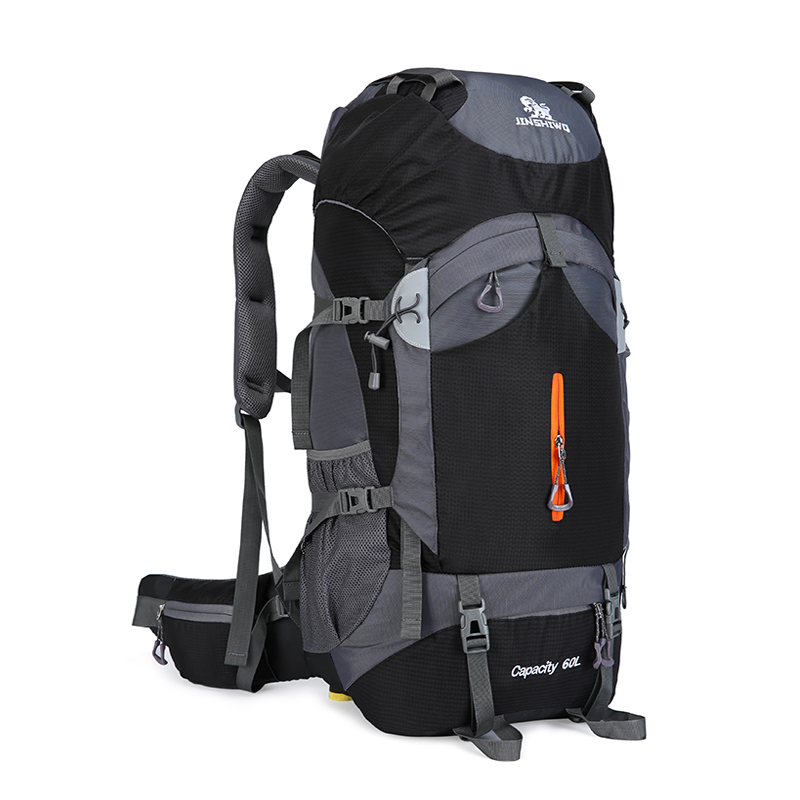 60L Large Capacity Camping Hiking Backpacks Lightweight Outdoor Sport Bag Waterproof Backpack Man Travel Back Pack Alloy Support newest professional mountaineering back pack large capacity portable outdoor sports backpacks waterproof travel bag 45l 60l 65l