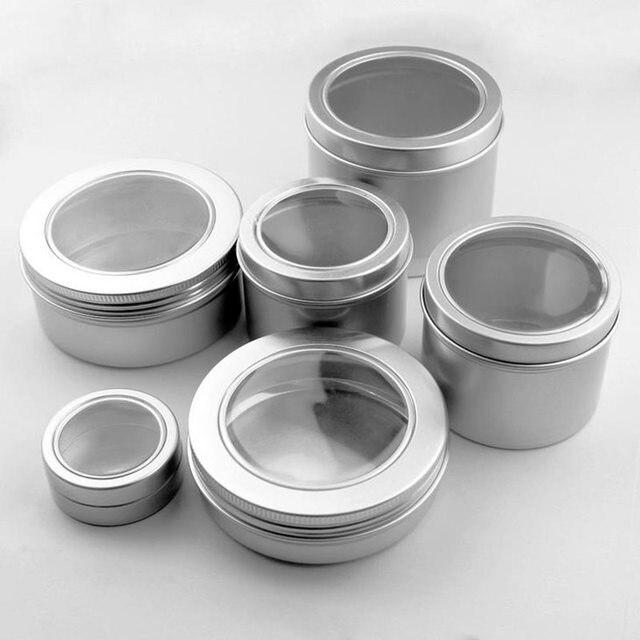 25ml empty skin care cream aluminum containers with window cap,metal ...