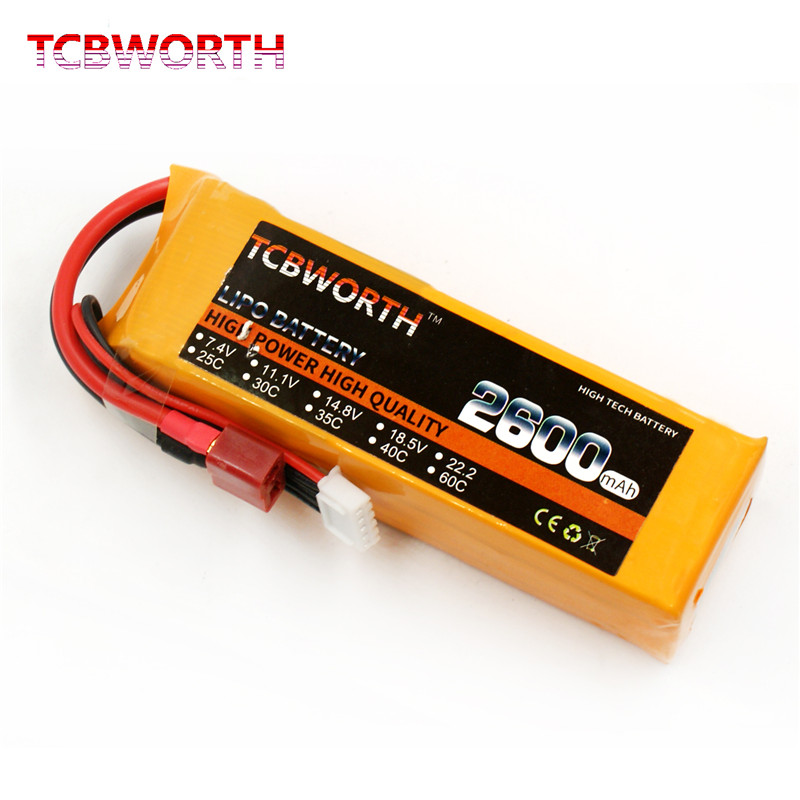 TCBWORTH 2S 7.4V 2600mAh 30C RC Lipo battery for rc airplane helicopter AKKU 3s Li-ion batteria mos rc airplane lipo battery 3s 11 1v 5200mah 40c for quadrotor rc boat rc car
