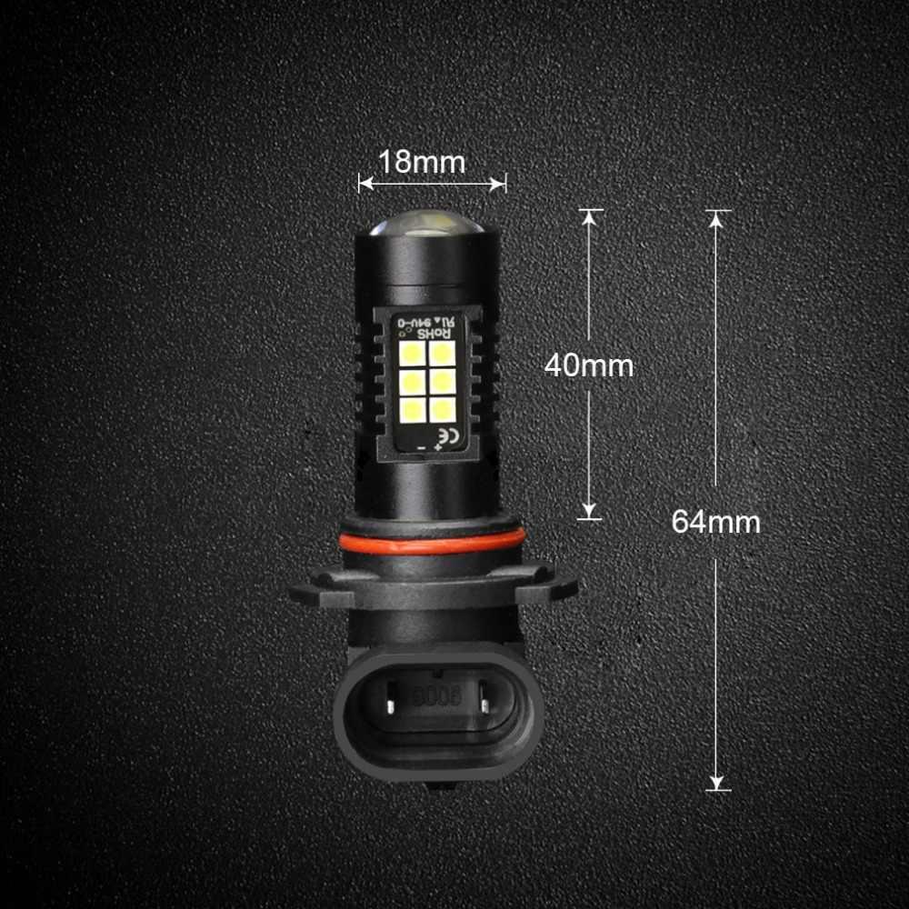 2pcs 9006 HB4 LED Fog Light 1200LM Car LED Bulbs 3030 White Daytime Running Lights DRL Auto Lamp 6000K 12V LEDs Driving Lamp