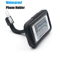 Universal Waterproof Motorcycle Mobile Phone Holder Bag Mount Stand Cellphone Case For IPhone 6 6S Plus