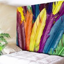 3D Ethnic Tribal Feather Decorative Wall Tapestry Bohemian Indian Home Decor Big Hippie Wall Art Blanket for Bedside Living Room lilyhood female genuine leather small bag music feather hippie gypsy indian folk tribal bohemian boho chic ibiza feminine bag