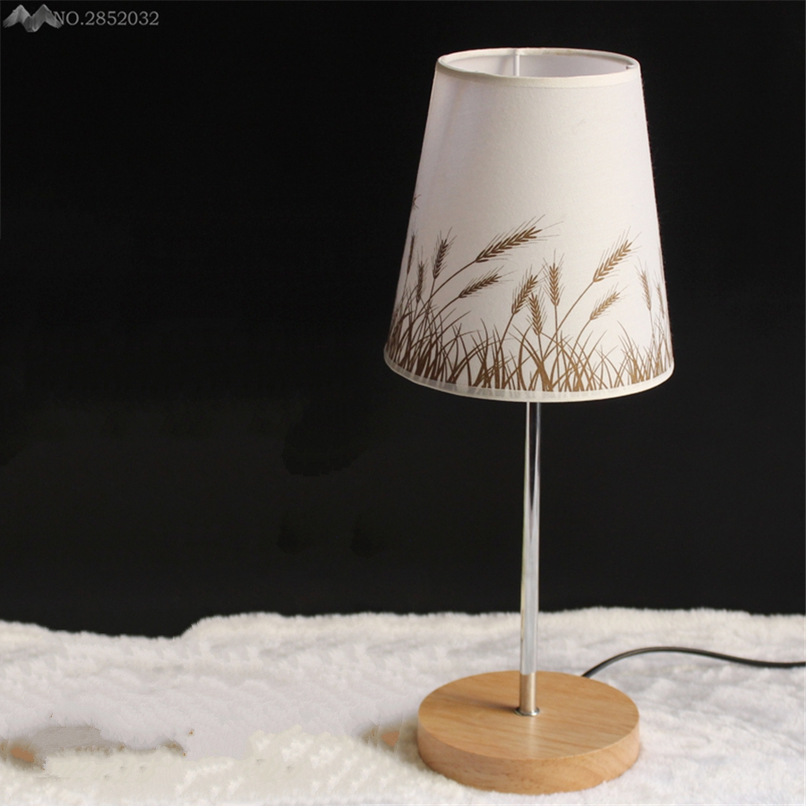 Accent Lighting Of Contemporary Table Lamps For Living: 2017 New Decorative Table Lamp Vintage Wood Plastic Rustic