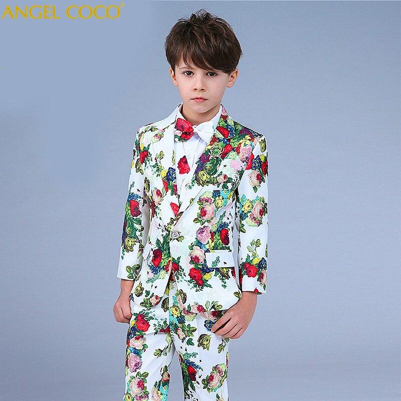 7 шт. большой Костюм с пиджаком для свадеб Детская куртка + жилет + брюки костюм Enfant Garcon Mariage Дети вечернее Блейзер Одежда