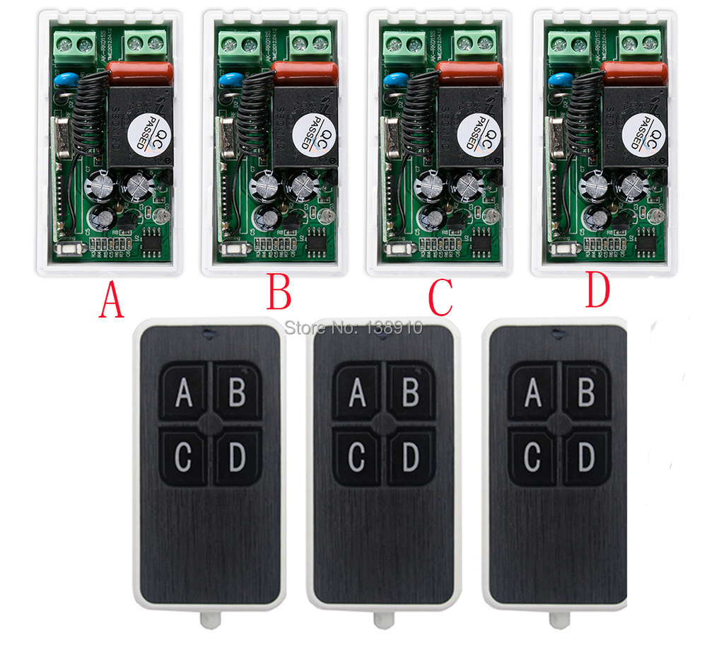 most simple wiring AC220V 1CH 10A wireless remote control switch system 3X Transmitter + 4X Receiver relay smart house z-wave  sc 1 st  AliExpress.com : smart house wiring - yogabreezes.com