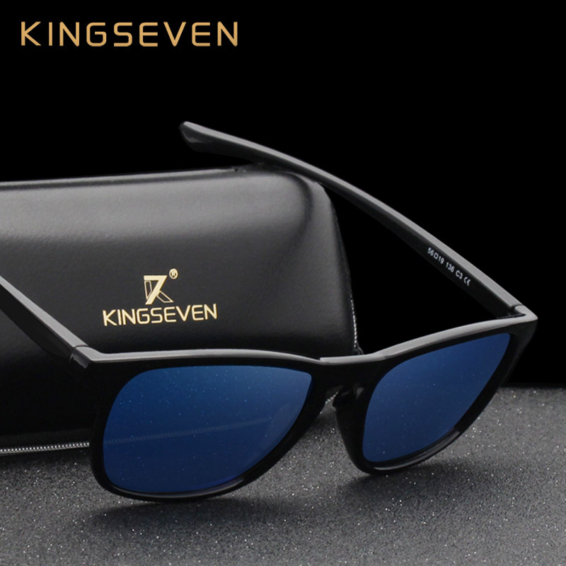 KINGSEVEN 2019 New Brand Polarized Sunglasses Driving Men Mirror Lens Sun Glasses Oculos Eyewear Accessories N7916