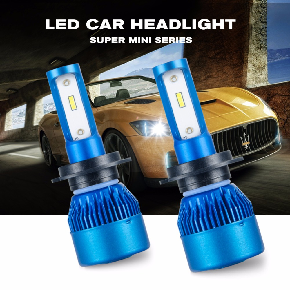 цена на Foxcncar H7 H4 LED Bulb Car Headllight H4 H11 H7 LED H1 H11 72W Fog Light 12V 24V Auto Headlamp Lamp Universal 10000LM 6500K CSP