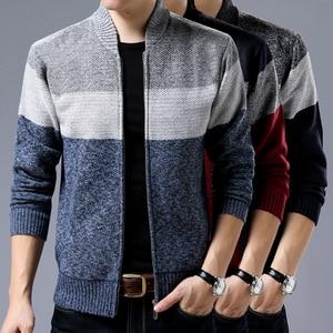 Image 4 - Liseaven Men Cardigans Sweater Casual Style Stand Collar Warm Sweatercoat Mens Jacket Coat Autumn Winter Cardigan