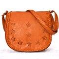 Sacos novos 2014 mulheres mensageiro saco de ombro das mulheres pu bolsas de couro ladied moda oco out bolsa crossbody 4 cores
