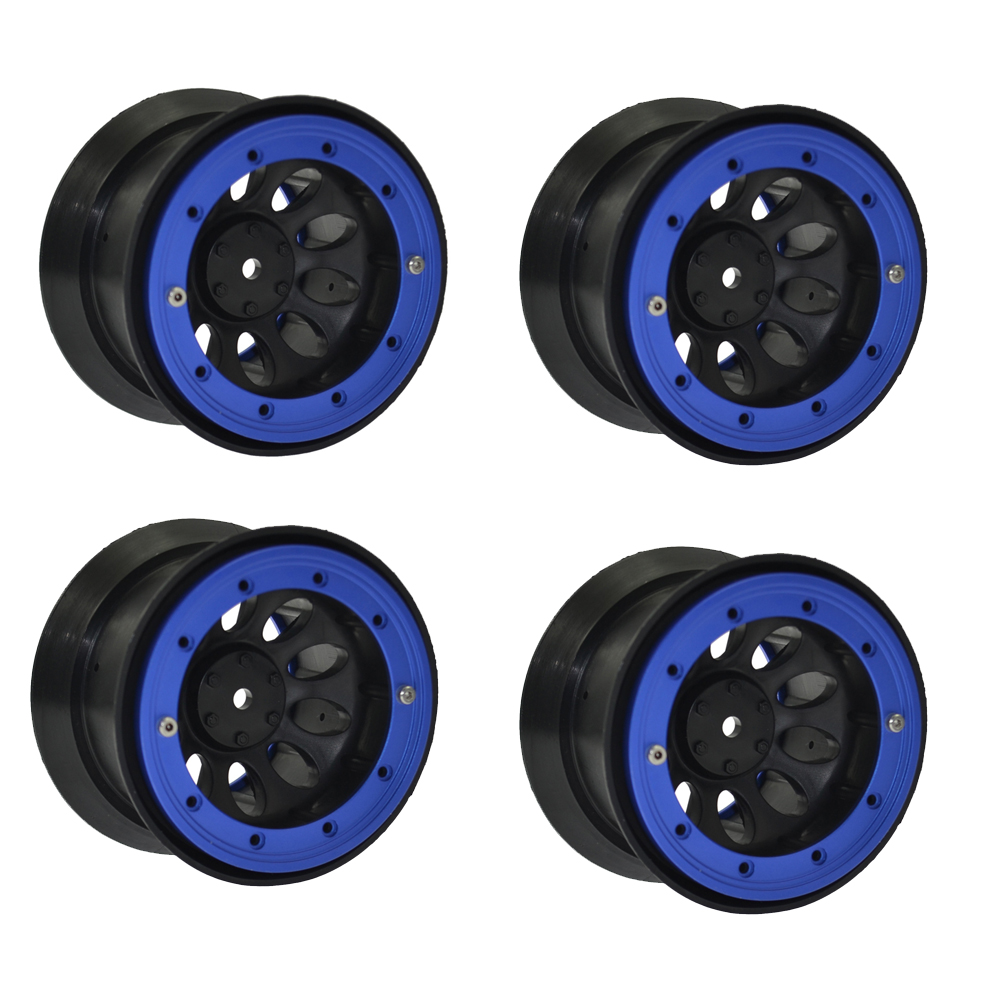 4PCS RC Crawler Rock 2.2 Beadlock rims for 1/10 RC Rock Crawler Axial SCX10 TRAXXAS HSP HPI 2.2Tires 4pcs set rc parts 12mm hex bead loc short course ruber tire rims for hpi hsp rc 1 10 traxxas slash