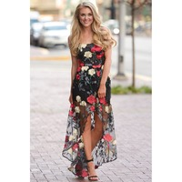 Vadim Dress Square Collar Summer Sleeveless Loose Natural Real 2019 New Style Women Floral Embroidery Irregular Sling Dress