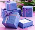 2016 Jewelry Box Display Casket Free Shipping Wholesale 20pcs/lot 4 X 4cmpurple Packaging Bracelet & Necklace Chain Gift Box