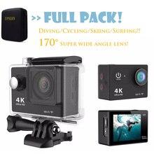 Upslon Оригинальный Ultra HD 1080 P 4 К 30fps 170D WiFi Шлем перейти водонепроницаемый Профессиональный дайвинг спорт cam Экен H9/H9r Действий Камеры