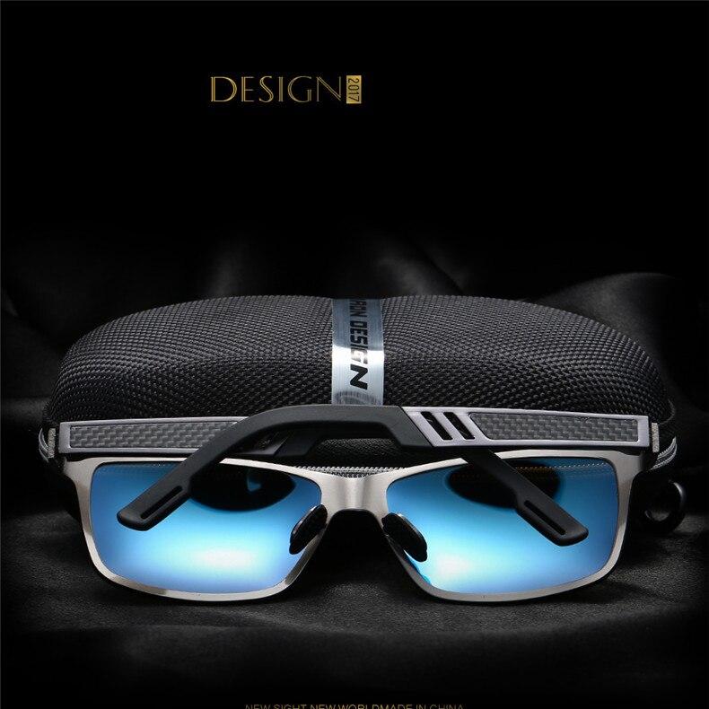 Alluminio polarizzati mens occhiali da sole occhiali da sole a specchio quadrato degli uomini goggle occhiali accessori per uomo donna óculos de sol - 4