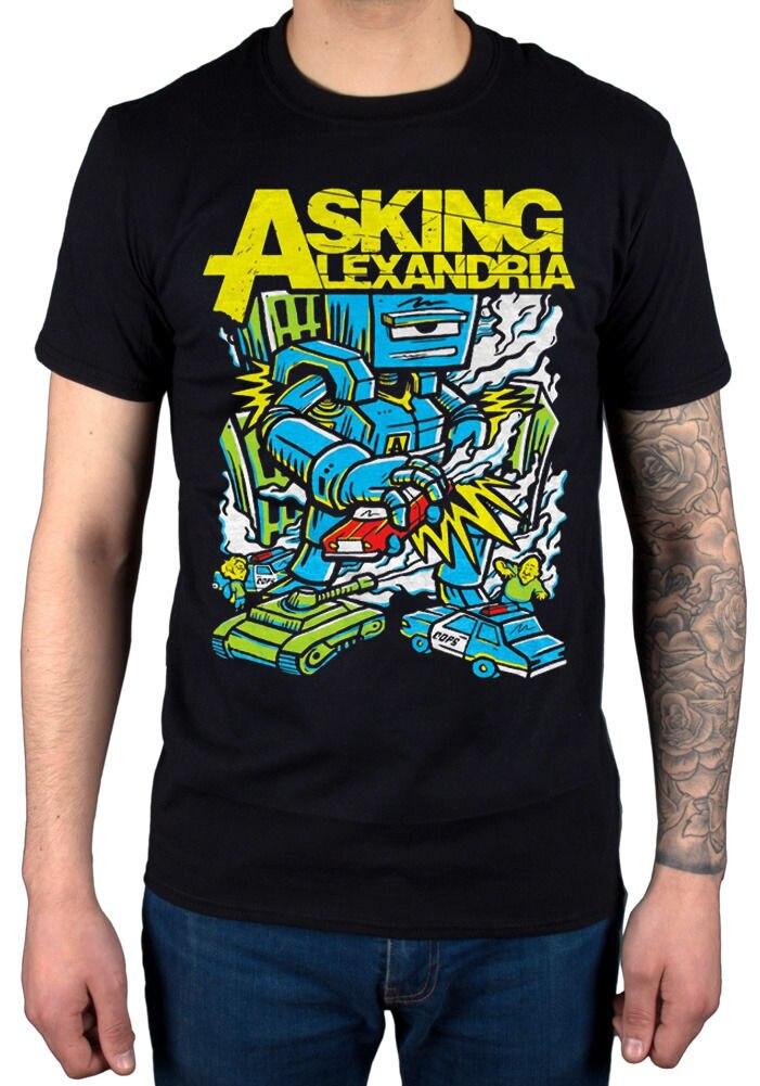 Official Asking Alexandria Killer Robot T Shirt New Merch Afterlife Hourglass