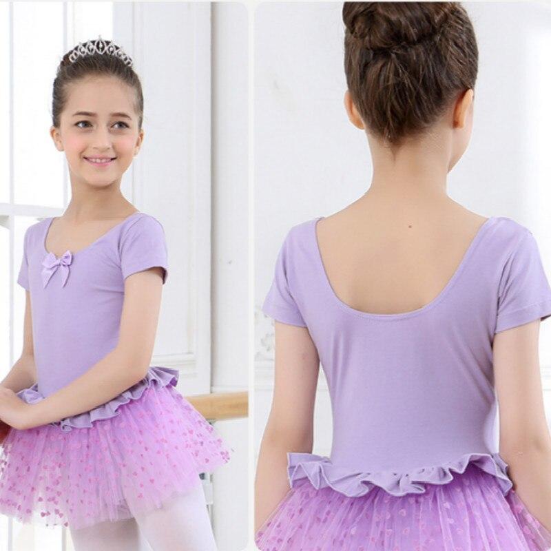 short sleeved Spandex Gymnastics Leotard for Girls Ballet Dress Clothing Kids Dance Wear Dancer Girl Costumes Dancewear Skating