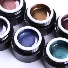 BORN PRETTY 5D Cat Eye Nail Gel 5ml Magnetic Soak Off UV Gel Lacquers Starry Sky Jade Effect Varnish Black Base Needed