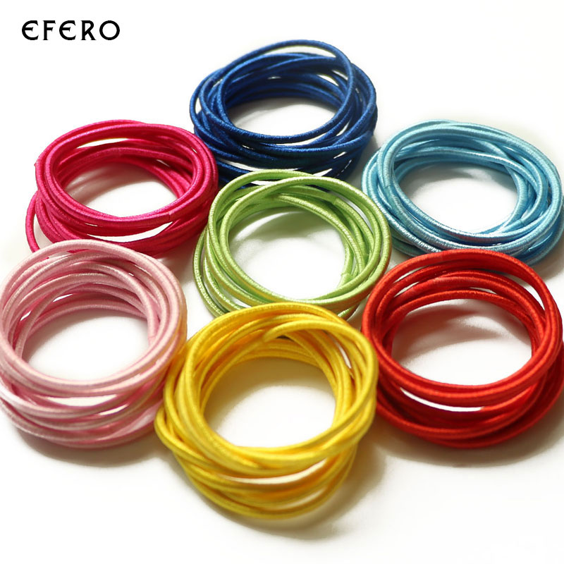 50Pcs Cute Children Girls Elastics Rubber Bands Hair Holders Tie Gum Hair Accessories Scrunchy Hair Rings Hairbands Headband 13pcs children printing hair rings