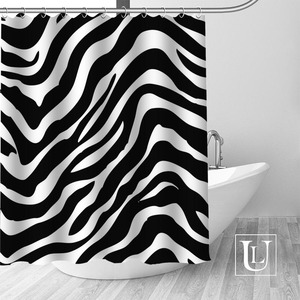 Image 5 - Big Sale New Custom Leopard Modern Shower Curtain with Hooks bathroom Waterproof Polyester Fabric