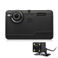 Udricare 7 inch GPS Android WiFi GPS Navigation DVR 16GB Quad core Bluetooth Video Recorder Dual Lens Rear View Back Camera DVR