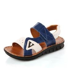 2017 summer new boy sandals breathable  big child leisure beach shoes children's soft bottom  shoes