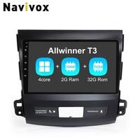 Navivox 9 2 Din Android 6 0 Car GPS Navigation Stereo Audio Player For Mitsubishi Outlander