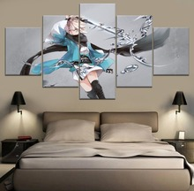 Home Decorative Wall Art Modular Picture Framework Canvas Art Print Anime Poster 5 Pieces Fate Grand Order Role Painting Artwork high quality canvas print poster framework painting wall art home decorative 5 pieces anime unknown landscape modular pictures