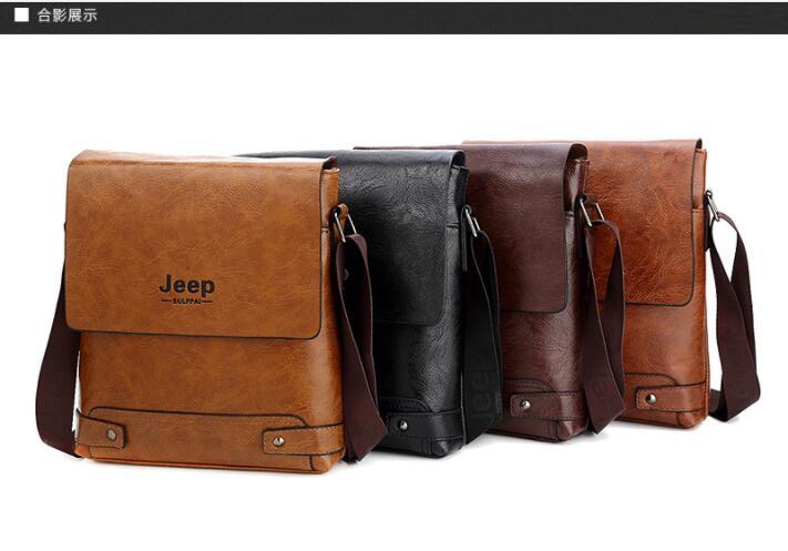 HTB1r0RvaFP7gK0jSZFjq6A5aXXaz 2019 New Jeep Men's Bag Business Bag Men's Shoulder Messenger Bag Jeep Leather Casual Bag