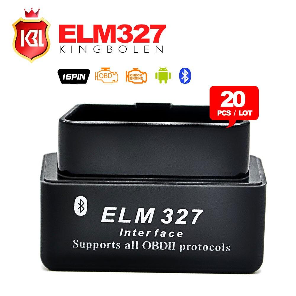 Prix pour 20 PCS/LOT Dernière version V2.1 super mini elm327 bluetooth OBD2 Scanner ELM 327 Bluetooth Smart Car Diagnostic outil