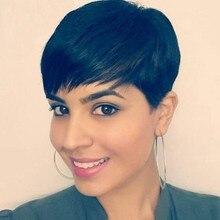 7A Peruvian Virgin Human Short Bump Hair 27 Piece Weave for Black Women Short Human 27