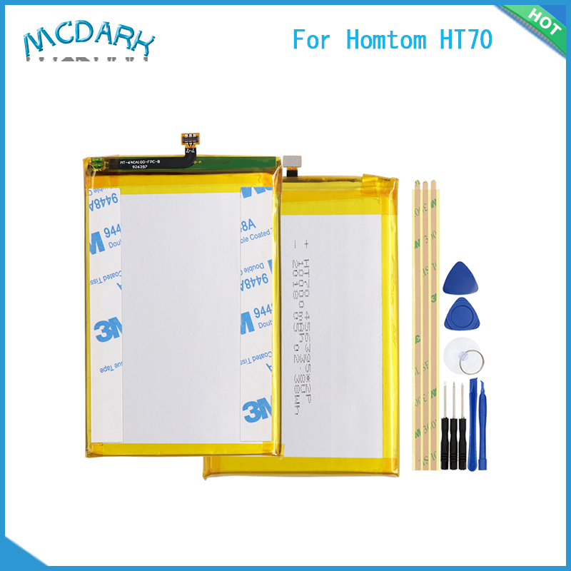 Mcdark 10000mAh For Homtom HT70 Battery Hight capacity Replacement Backup Battery With Tools For Homtom HT70 Smartphone(China)