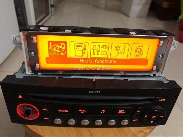 Car Screen support USB Dual-zone air Bluetooth Display 5 menu yellow monitor 12 pin for Peugeot 307 407 408 citroen C4 C5