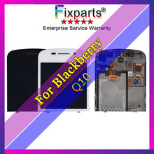 Black For Blackberry Q10 LCD display + Touch screen with digitizer Assembly Replacment part Free shipping cheap fixparts Capacitive Screen LCD Touch Screen Digitizer 1280x720 3 LCD Display For BlackBerry Q10 LCD Display Repair Parts For BlackBerryQ10 screen