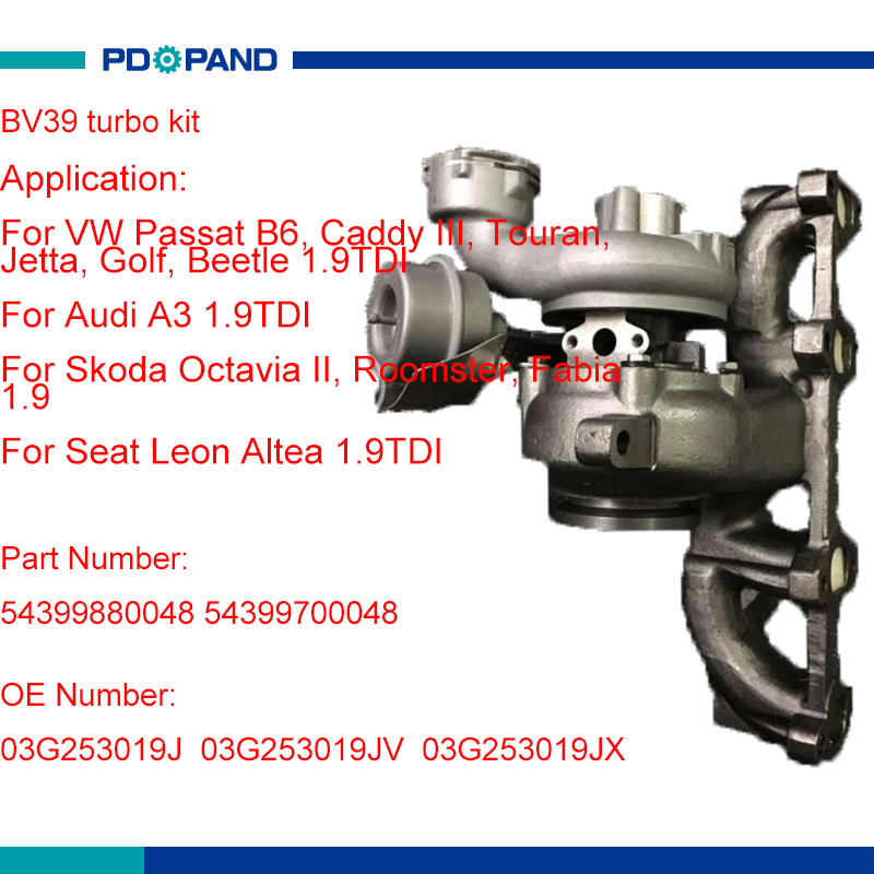 Vw Passat V6 Supercharger Kit: Turbo Kit BV39 Turbocharger 03G253019J 54399880048